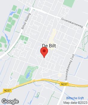 Locatie De Bilt Auto's B.V. op kaart