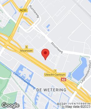 Locatie motoZoom Utrecht op kaart