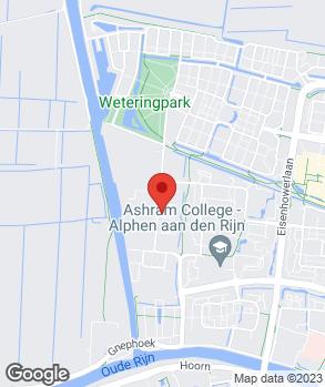 Locatie Schadenet Van Straaten Alphen aan den Rijn op kaart