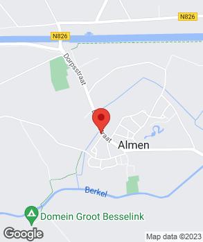 Locatie AD-Autobedrijf Slettenhaar Almen op kaart