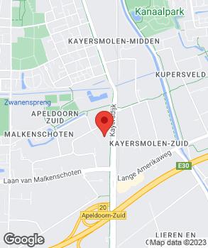 Locatie Dusseldorp Apeldoorn op kaart