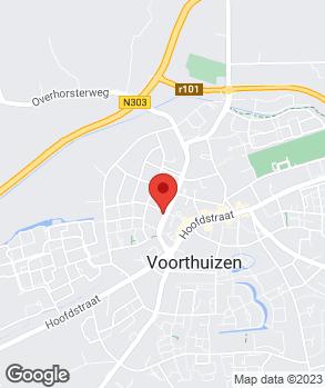 Locatie B. van Zwetselaar op kaart
