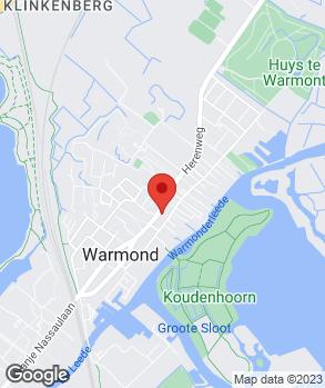 Locatie Garagevink Warmond op kaart