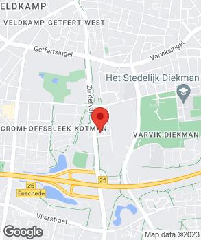 Locatie Smudde Motoren | Broekhuis Enschede 2 B.V. | Smudde Enschede | Broekhuis Oost op kaart