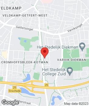 Locatie Peterman Autogroep Enschede op kaart