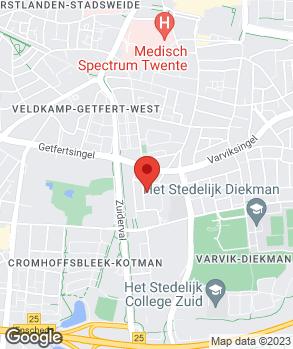 Locatie V.O.F. Automobielbedrijf Reinbergen op kaart