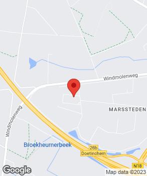 Locatie Auto's Beernink & De Bekker Oost op kaart