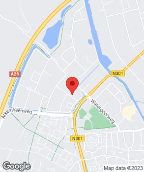 Locatie Autoschade Herstel Hacom Nijkerk B.V. op kaart