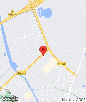 Locatie Broekhuis Nijkerk op kaart