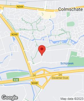 Locatie Herwers Deventer op kaart