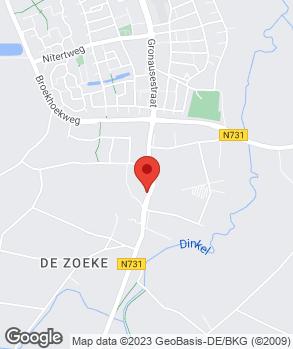 Locatie Gerrit Hof op kaart