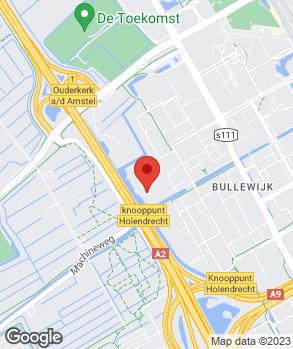 Locatie Volvo Bangarage Amsterdam Zuidoost op kaart