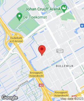 Locatie Suzuki Luykx Amsterdam Zuidoost op kaart
