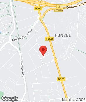 Locatie Cees Jansen Auto's Ermelo op kaart