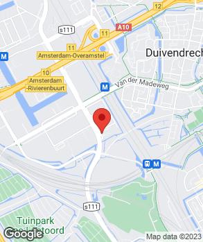 Locatie Dirk Barten Amsterdam Zuid Oost B.V. op kaart