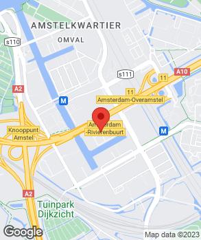 Locatie Lexus Amsterdam op kaart