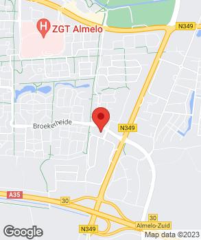 Locatie Broekhuis Almelo B.V. op kaart