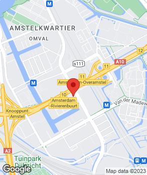 Locatie Citroën Amsterdam op kaart