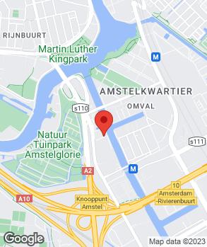 Locatie Arend Auto Amsterdam Zuid Oost op kaart