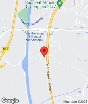 Locatie A.J. Hankamp op kaart