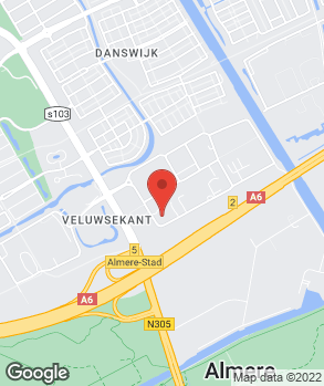 Locatie A-Point Almere op kaart