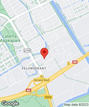 Locatie Autobedrijf JaVé Almere B.V. op kaart