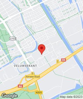 Locatie Toyota Zonneveld Almere B.V. op kaart