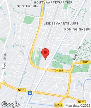 Locatie Motorhuis Haarlem op kaart