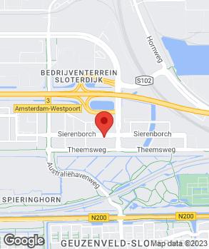 Locatie Louwman Amsterdam West op kaart