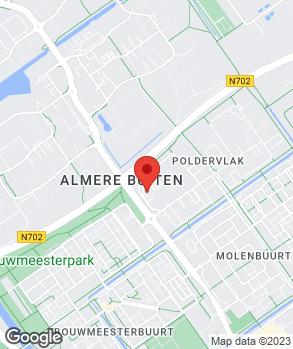 Locatie Freeroad Almere op kaart
