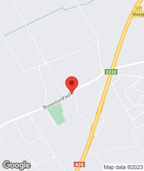 Locatie Bandenservice Wezep op kaart