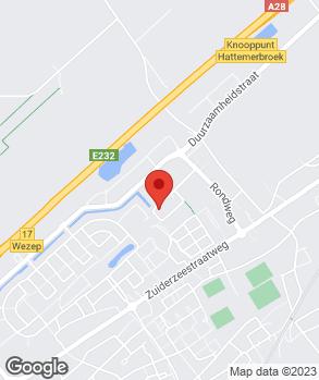 Locatie Autoschade Jansen Wezep B.V. op kaart