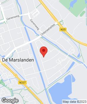 Locatie Autogarage Zwolle op kaart