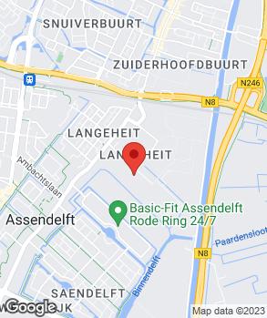 Locatie Wouda Assendelft B.V. op kaart