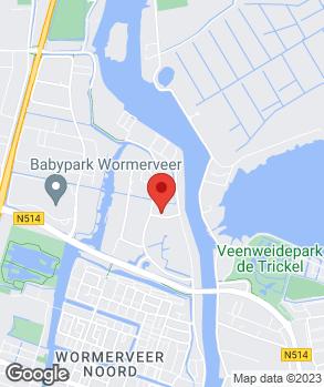Locatie Autocentrale Wormerveer op kaart