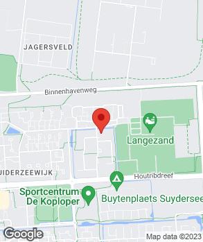 Locatie Bochane Mafait Lelystad op kaart
