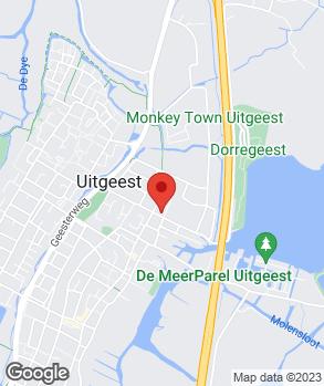 Locatie Autocentrale Uitgeest op kaart