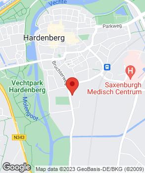 Locatie Autocentrum Cents Hardenberg B.V. op kaart