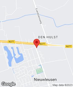 Locatie V.O.F. H. Dunnewind op kaart