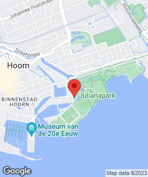 Locatie Motorservice Hoorn op kaart