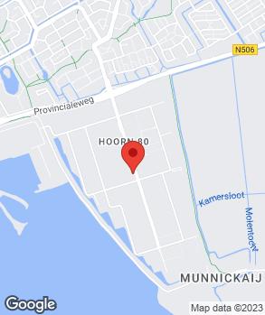 Locatie Ton van Kuijk Hoorn B.V. op kaart