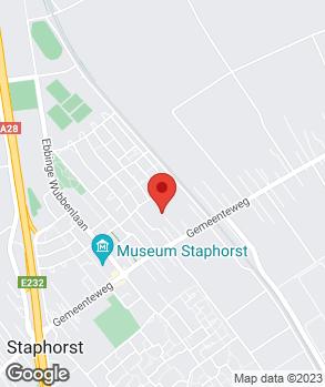 Locatie V.O.F. Autobedrijf Hofstede op kaart