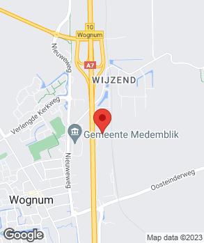 Locatie Car Center Wognum op kaart