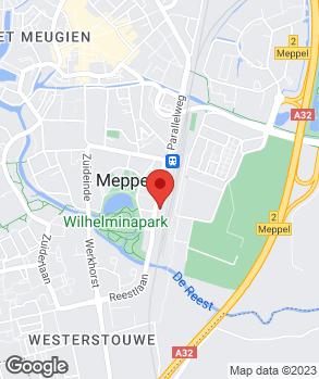 Locatie Auto Palace Meppel op kaart