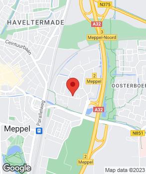 Locatie Autobedrijf Arend Benthem Meppel op kaart