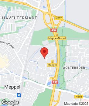 Locatie Automobielbedrijf Van der Linde Meppel B.V. - Toyota dealer op kaart