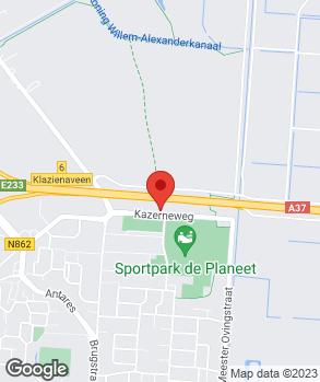 Locatie Autobedrijf Bennie Oosting op kaart