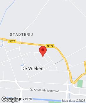 Locatie Garage De Hefbrug V.O.F. op kaart