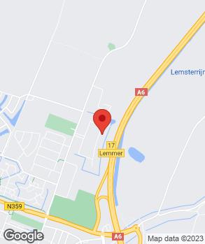 Locatie Garagebedrijf Bakker op kaart