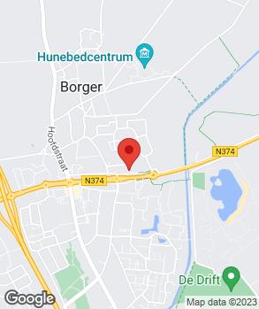 Locatie Autocentrum Borger-Tom Ganzevoort B.V. op kaart